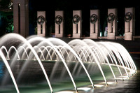 WW II Memorial fountains